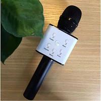 Портативный беспроводной микрофон караоке Q7 черный