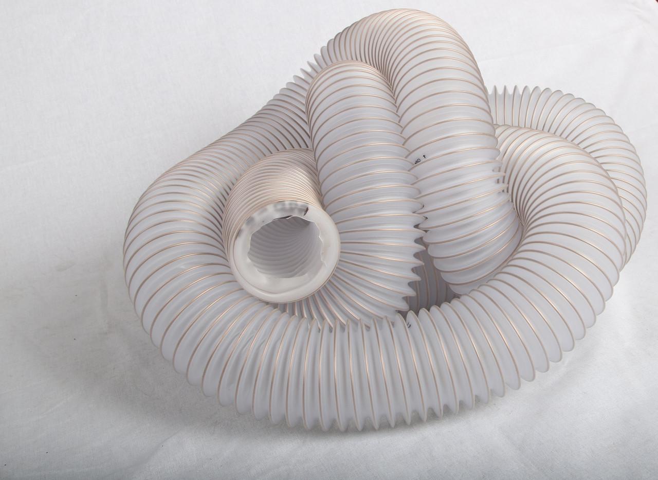 Вентиляційний шланг ПВХ 220мм 0,5 мм, гофрорукав аспіраційний