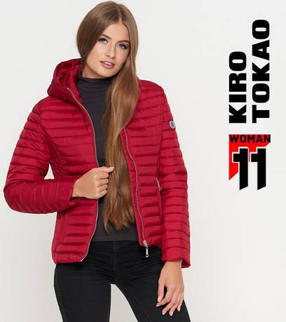 11 Kiro Tokao | Женская осенняя куртка 1862 бордовая