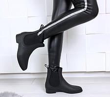 Ботинки челси Barbara женские резиновые черные