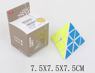 Кубік Рубика (кубик логика) YJ8331 (1711029) (120шт/4) пірамідка (треугольный), в кор. 7,5*7,5*7,5 см