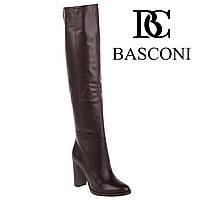 Ботфорты женские Basconi (элегантные, на высоком устойчивом каблуке, стильные, классический дизайн) 40