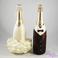 Украшение на свадебное шампанское №22