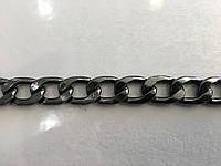 Цепочка алюминиевая черный никель 3.5х20.13.5 мм