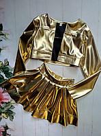 """Костюм на девочку """"Модница"""" , р. 128-152, цвет желтый"""