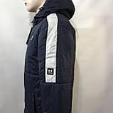 Куртка мужская / демисезонная на тонком синтепоне темно-синяя / размер M, L, фото 2