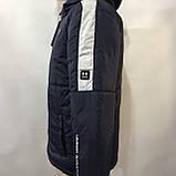 Куртка мужская / демисезонная на тонком синтепоне темно-синяя / размер M, L, фото 3