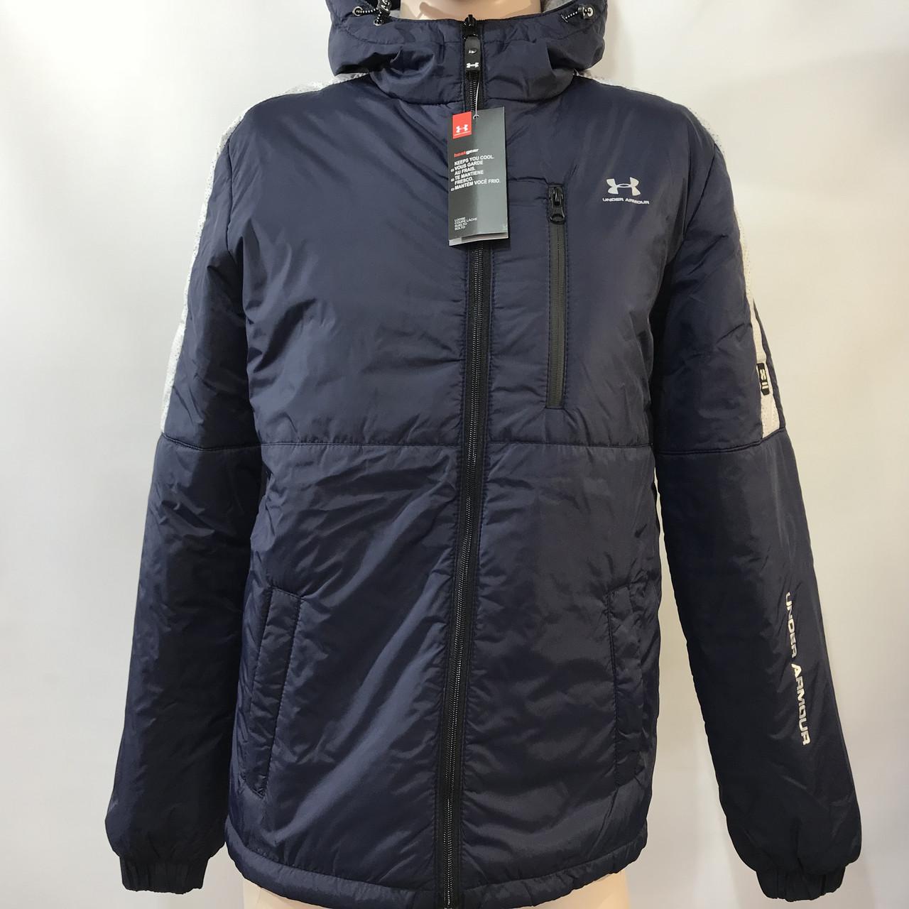 Куртка мужская / демисезонная на тонком синтепоне темно-синяя / размер M, L