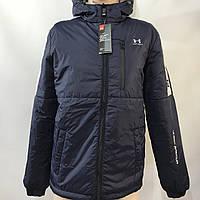 Ветровка мужская в стиле Under Armour / демисезонная куртка темно-синяя