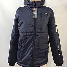 Куртка чоловіча / демісезонна на тонкому синтепоні темно-синя / розмір M, L