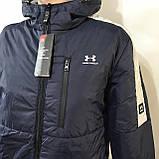 Куртка мужская / демисезонная на тонком синтепоне темно-синяя / размер M, L, фото 4