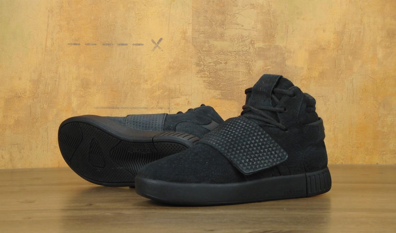 df1eedf28 ... Кроссовки замшевые высокие осенние черные Adidas Tubular Адидас Тубулар,  ...