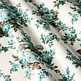 Тканина для штор в стилі прованс троянди блакитний, фото 2