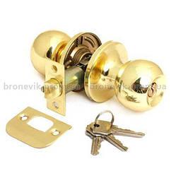 Ручка защелка Avers 6072-01-G с фиксацией + ключи (Золото)