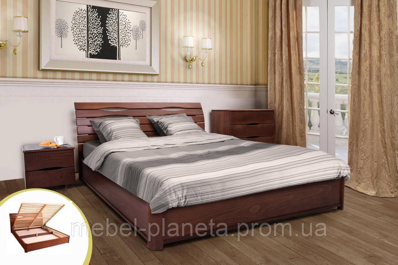 Кровать деревянная Мария с подъемным механизмом Микс Мебель