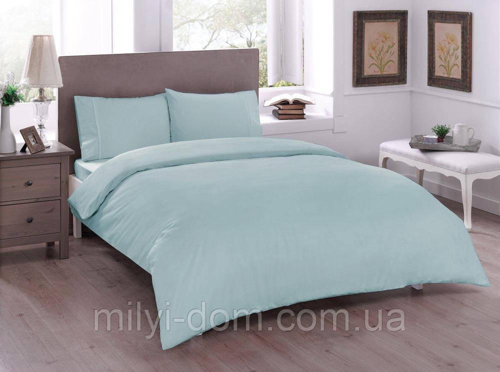 Набор постельного белья TAC Basic Mint (двуспальный евро)