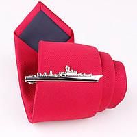 Bow Tie House Basic Зажим для галстука - Пароход - серебристый