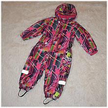 Термо-комбинезон Garden Baby для девочки малиновый размеры 80 86 92 98