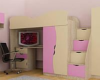 Кровать чердак со столом Тинейджер