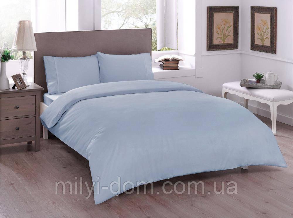 Набор постельного белья TAC Basic Blue (двуспальный евро)