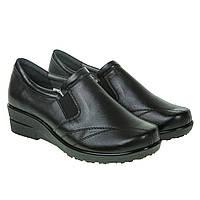 Туфли женские Steizer (черные, кожаные, качественные, практичные) 36