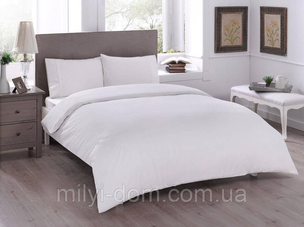Набор постельного белья TAC Basic Cream (двуспальный евро)