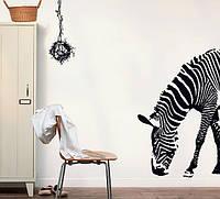 Інтер'єрна декоративна наліпка на стіну Зебра / Интерьерная наклейка на стену Зебра (AY9030)