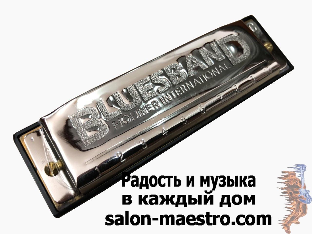 (0963) Губная гармошка Bluesband Hohner International в идеальном сост