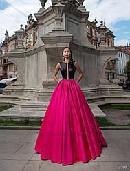 Длинное стильное вечернее платье
