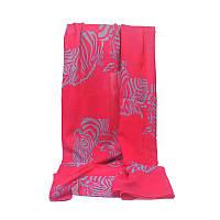 Женский шарф с рисунком в виде зебры розовый, фото 1