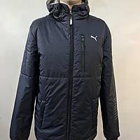 Ветровка мужская  в стиле Puma / демисезонная куртка темно-синяя