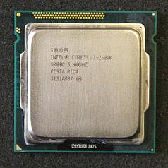 Процессор intel  core i7 2600 сокет 1155 (4 ядра по 3, Ггц/8 Мб)