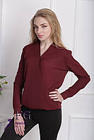 Блузка «Лурдес»  Бордовый 42 р-р, фото 1