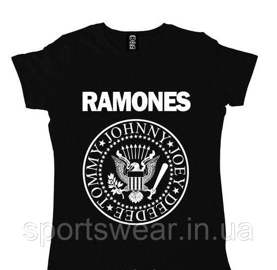 Женская Футболка RAMONES Рамонес ( Черная )