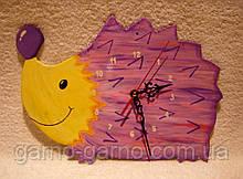 Часы настенные Ежик Розовый Сиреневый Часы для детской комнаты Ручная работа