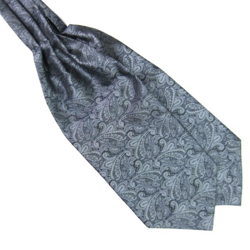 Bow Tie House Шейный платок серый в турецких огурцах