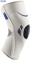 Коленный бандаж с противоударным пателлярным направителем , белый Silistab Genu, 1