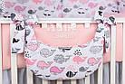 Комплект постельного белья Asik Киты розово-пудровые 8 предметов (8-299), фото 3