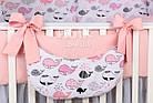Комплект постельного белья Asik Киты розово-пудровые 8 предметов (8-299), фото 2