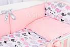 Комплект постельного белья Asik Киты розово-пудровые 8 предметов (8-299), фото 4