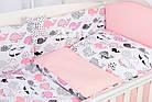 Комплект постельного белья Asik Киты розово-пудровые 8 предметов (8-299), фото 6