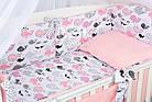 Комплект постельного белья Asik Киты розово-пудровые 8 предметов (8-299), фото 7