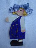 Часы настенные Девочка с бантом Часы для детской комнаты Ручная работа, фото 4