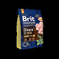Сухой корм 3 кг для щенков средних пород Брит Премиум / Junior M Brit Premium