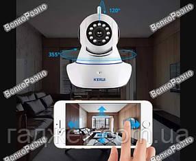 IP камера Поворотная. Поворотная Wi-Fi Ip-Камера KERUI приложение HAPSEE