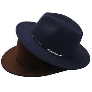 Bow Tie House Basic Шляпа федора фетровая Navy Bue