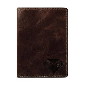 Bow Tie House Обложка для паспорта темно-коричневая глянцевая
