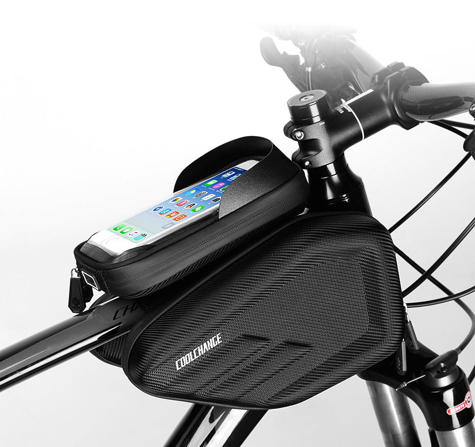 CoolChange велосумка нарамная водонепроницаемая под смартфон 5-6.2&quo 2