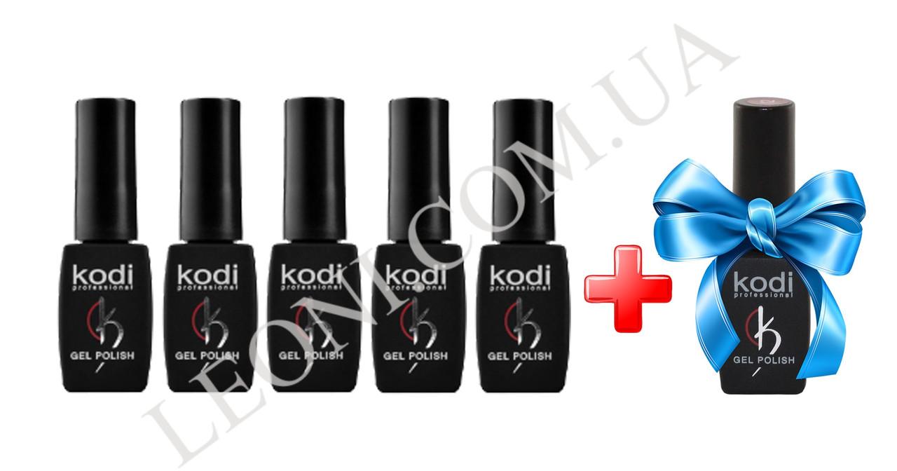 Набор гель-лаков  KODI Professional 5+1 в подарок
