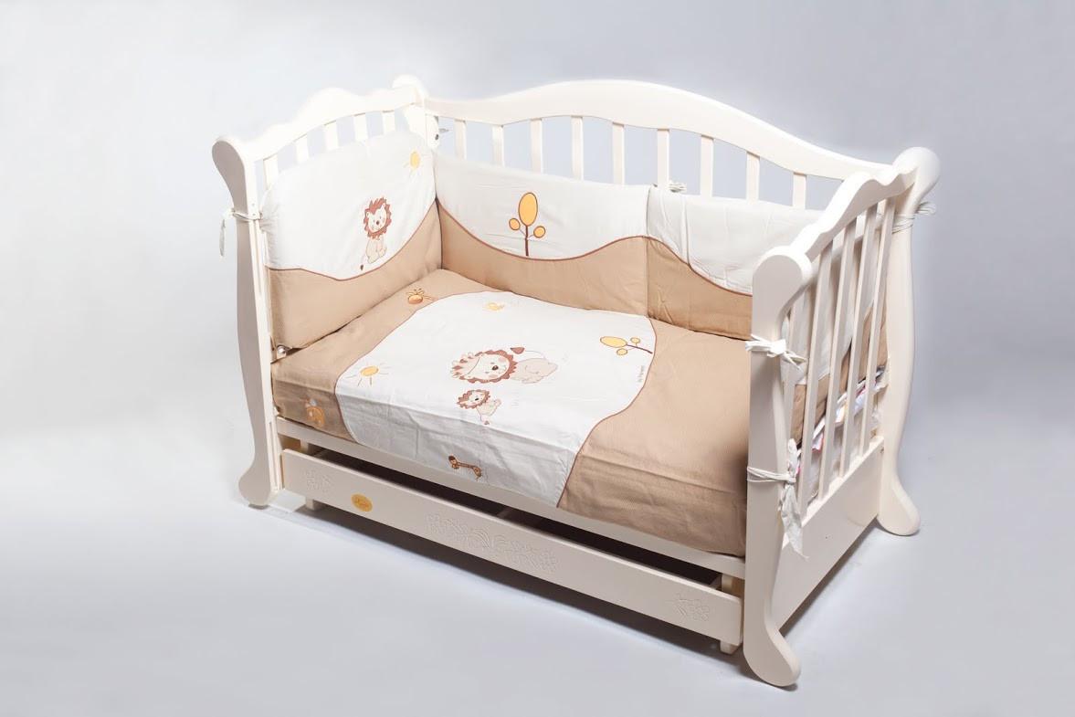 Детская кроватка Трия Весна белая
